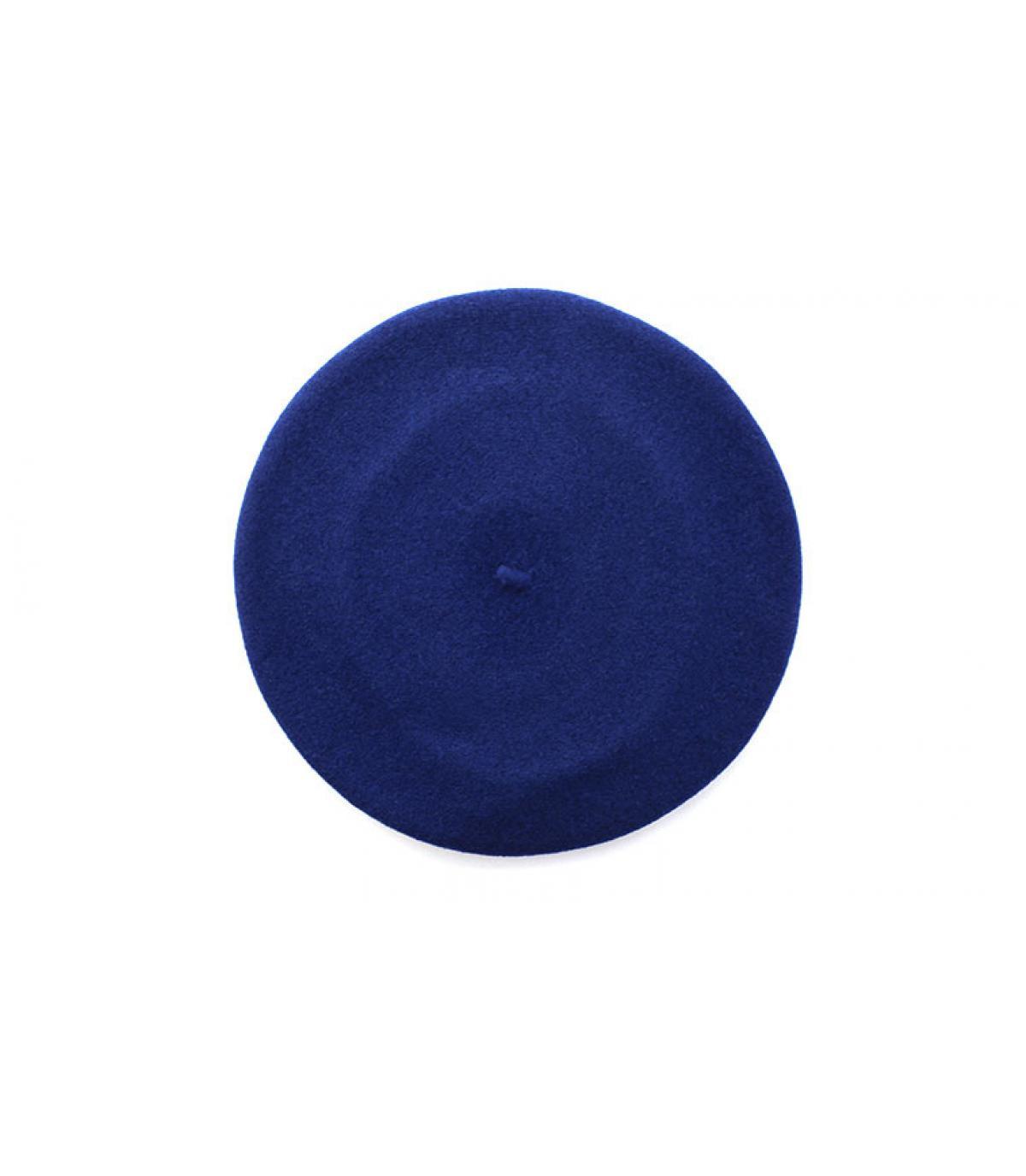 Barett gerippter Rand blau