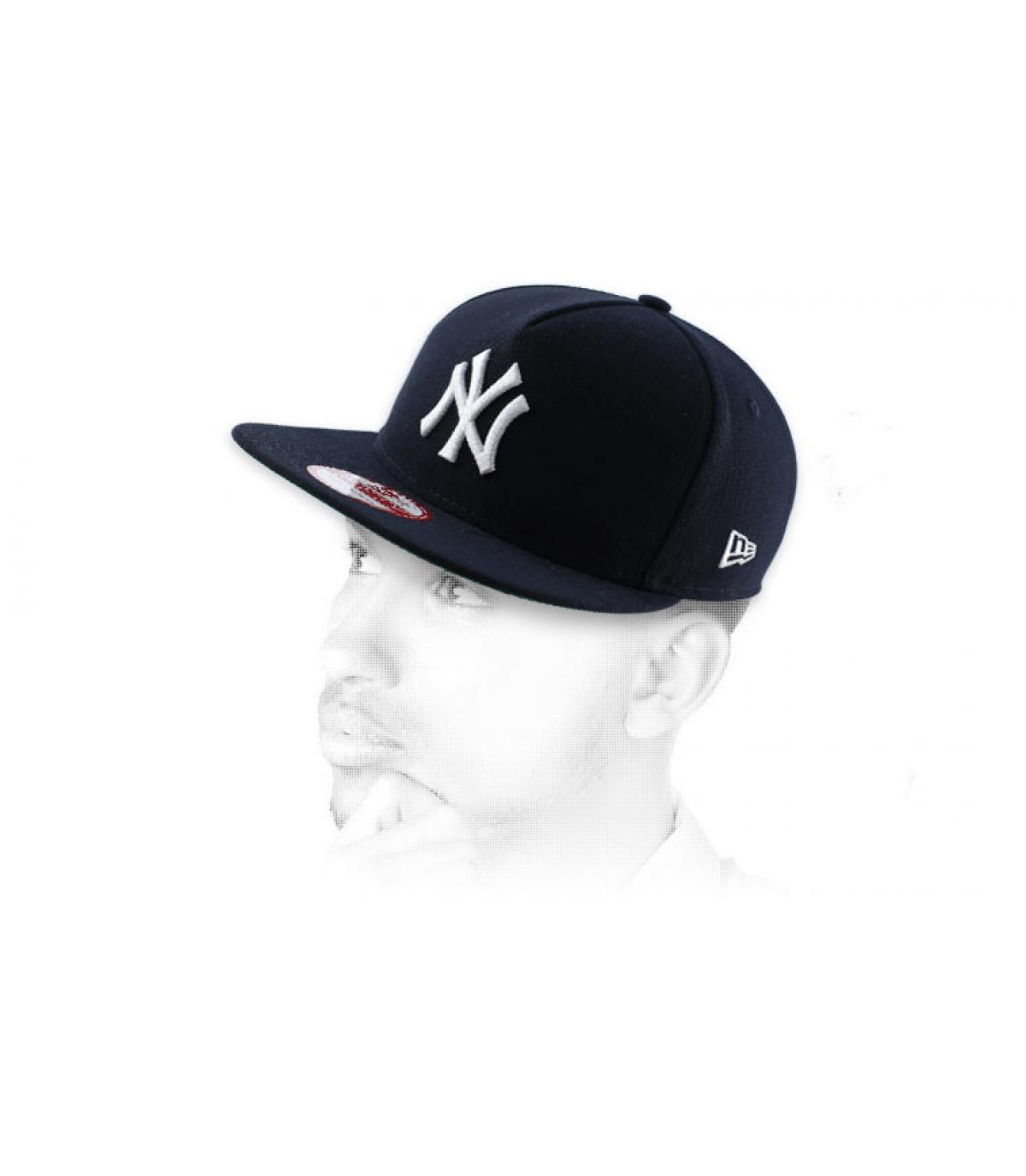 Snapback NY marineblau