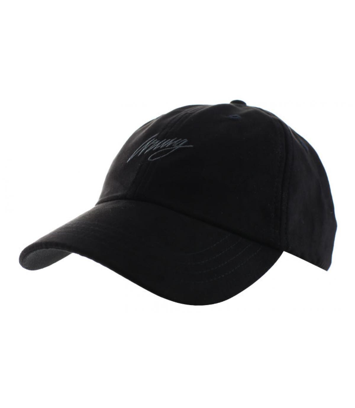 Curved Cap  Wildleder schwarz
