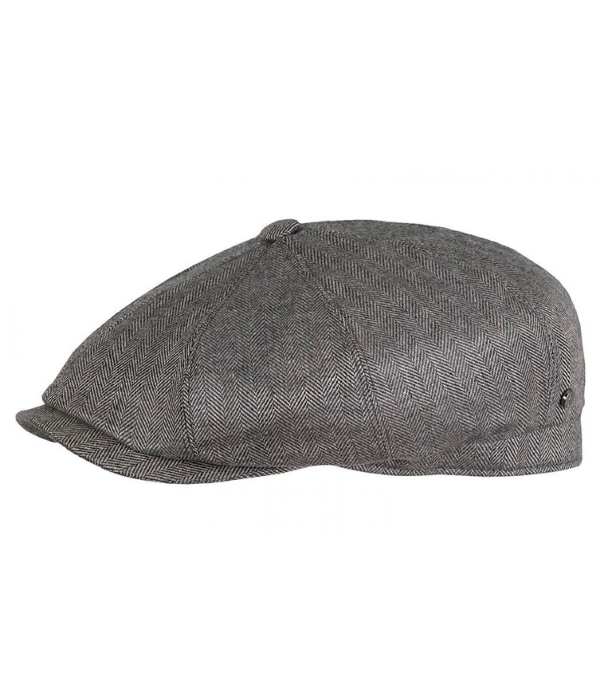 Barett grau Wolle Seide
