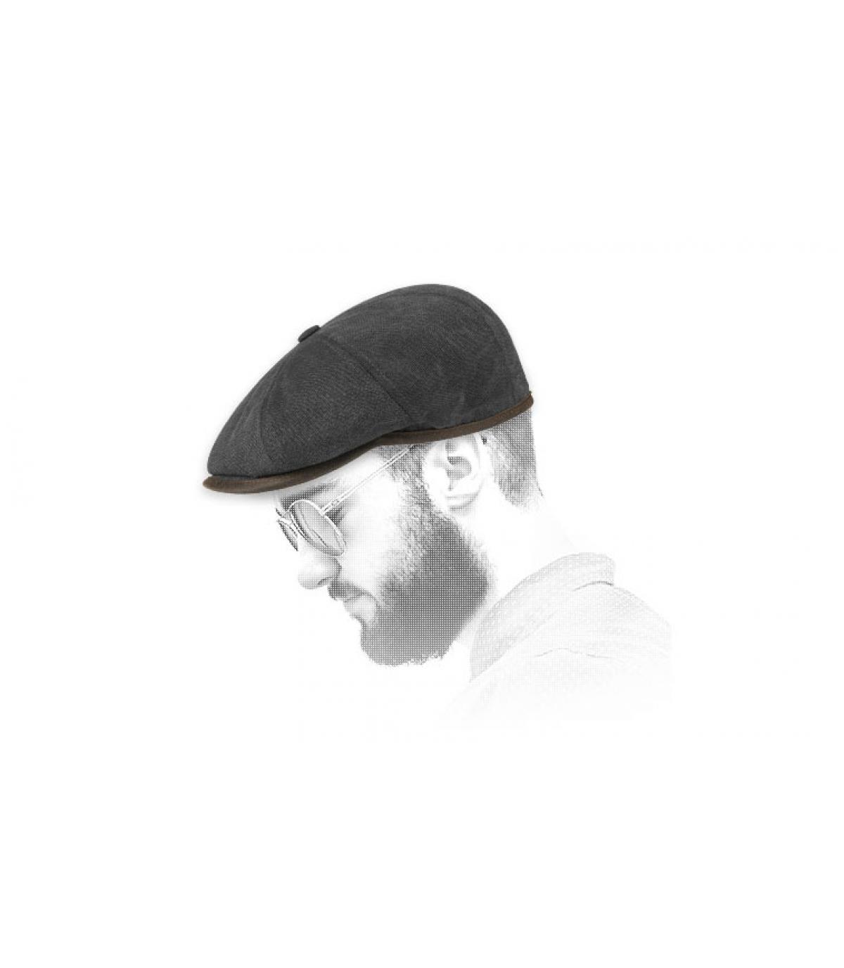 Gavroche Cap schwarz Baumwolle