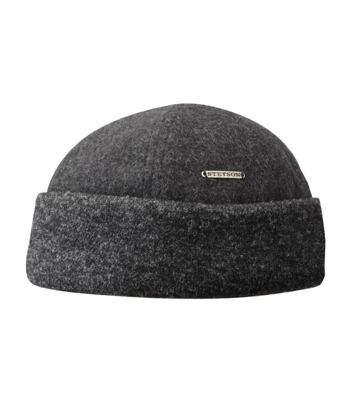 Docker Mütze Wolle grau