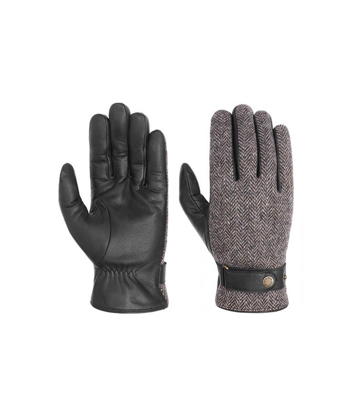 Handschuhe Leder Tweed Stetson