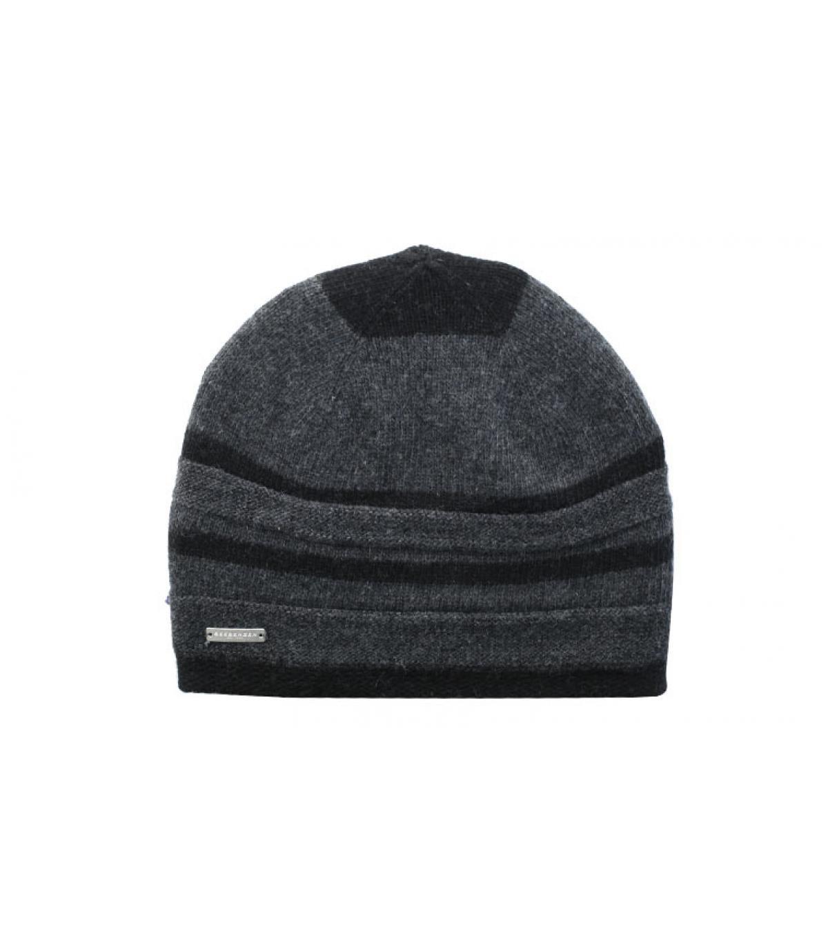 Details Lurex Stripes Mütze schwarz - Abbildung 2