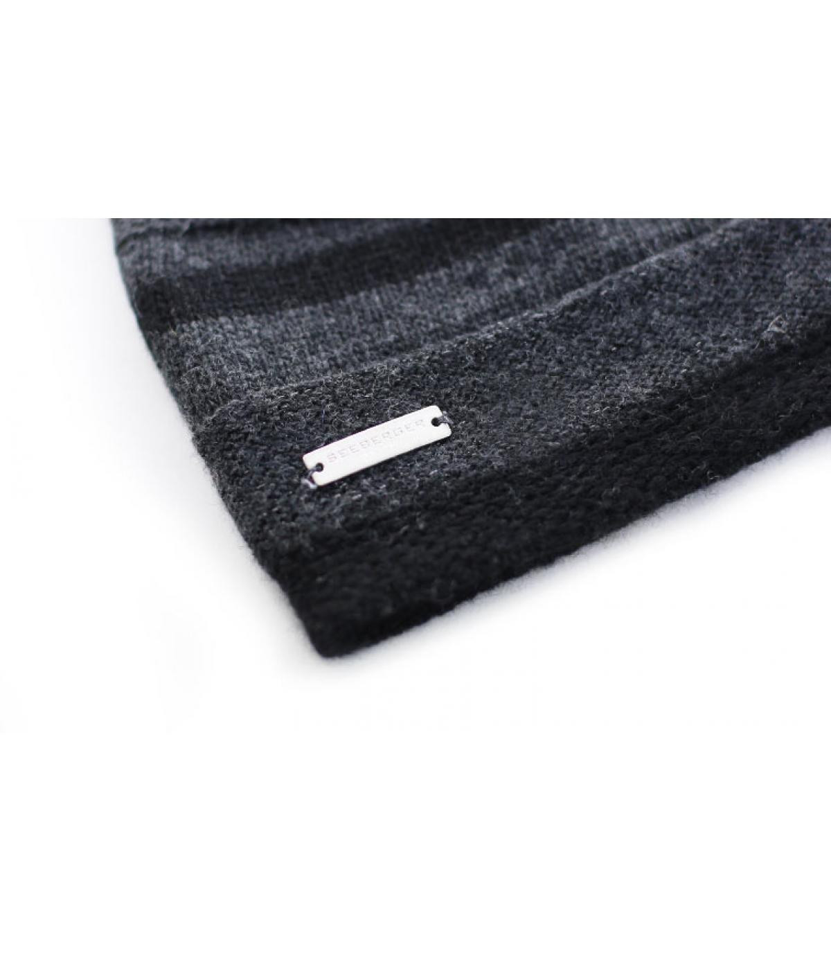Details Lurex Stripes Mütze schwarz - Abbildung 3