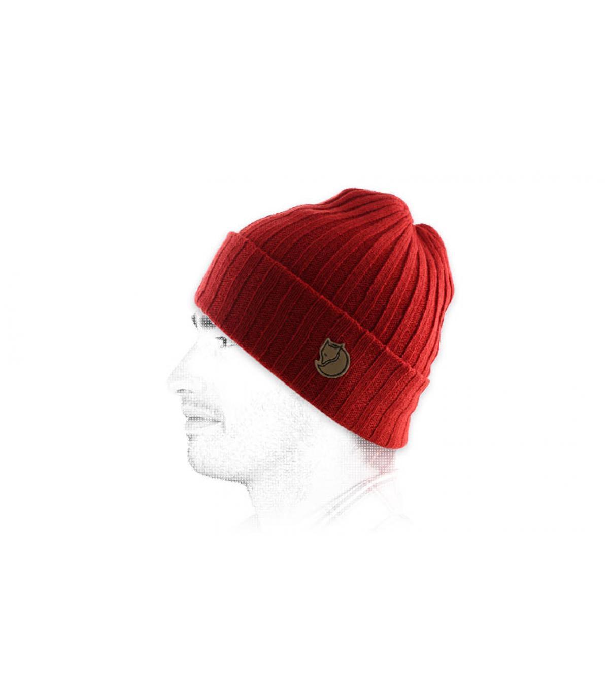 Mütze Revers Fjällräven rot