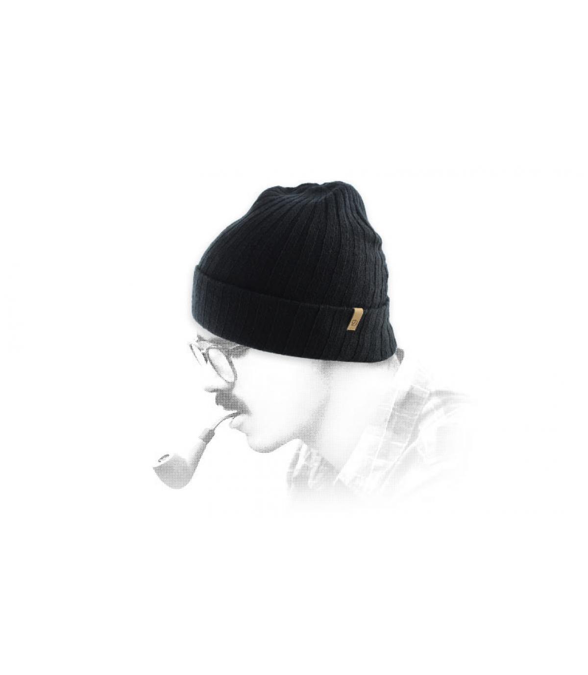 Schwarze Mütze Revers Fjällräven