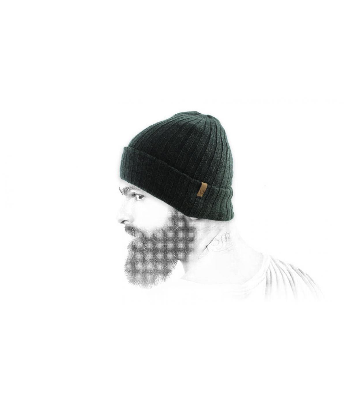 Mütze Revers dunkelgrün