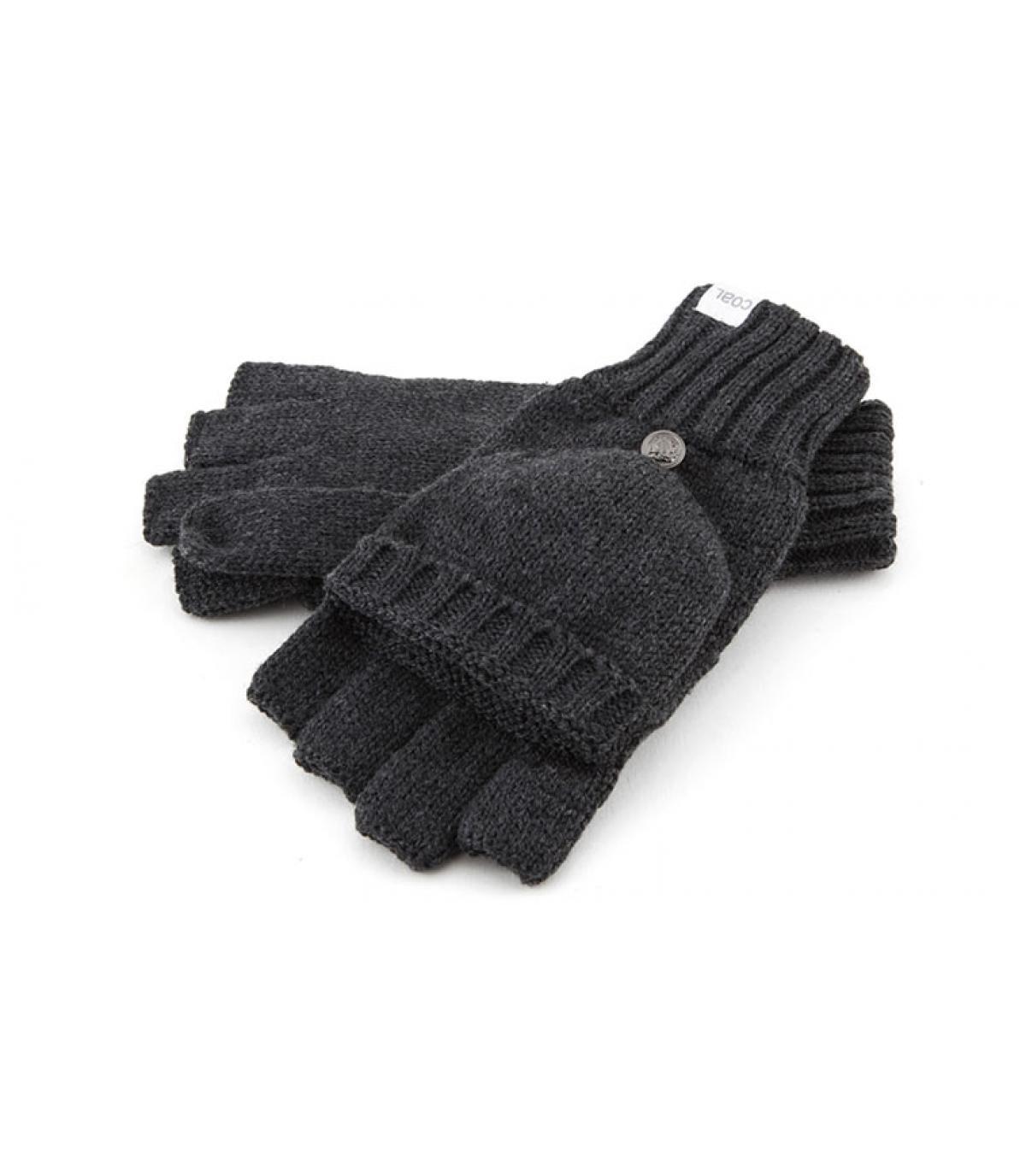 Handschuhe Fäustlinge grau