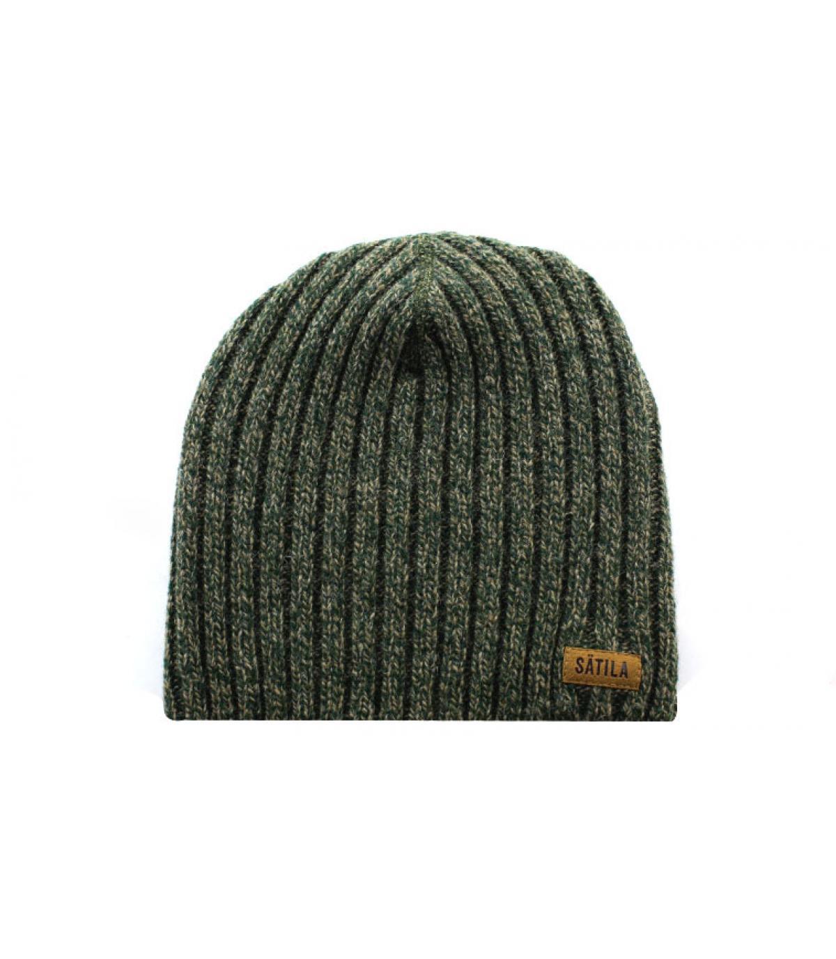 Oversize Mütze grün meliert