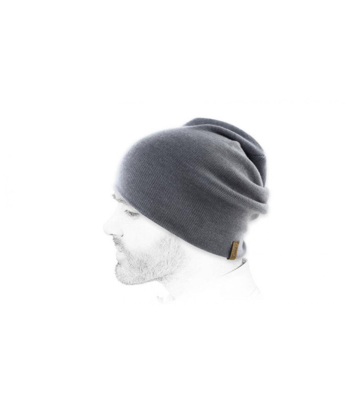 Lange Mütze Merinowolle Satila