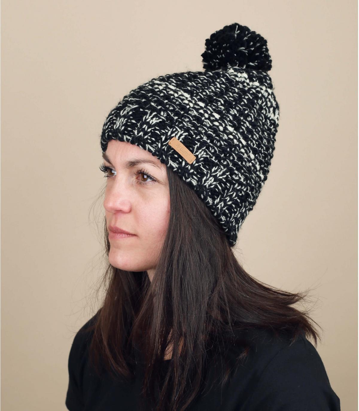 Schwarze Mütze  Barts Bommel