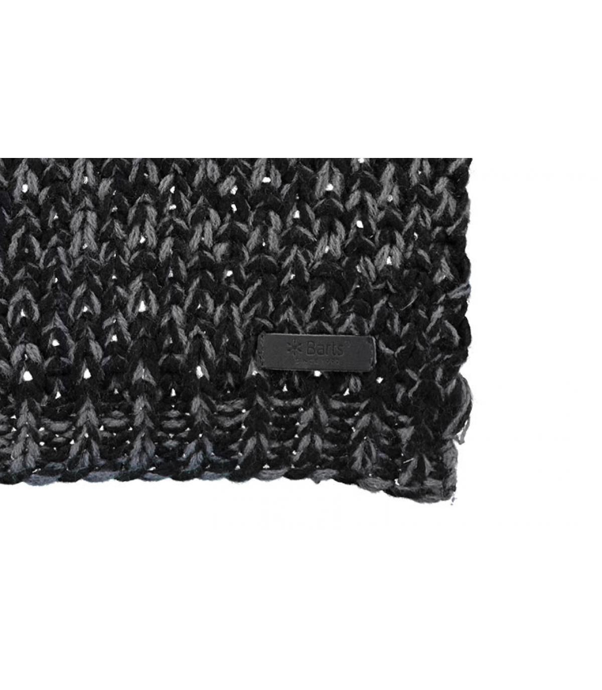 Schal gestreift schwarz grau