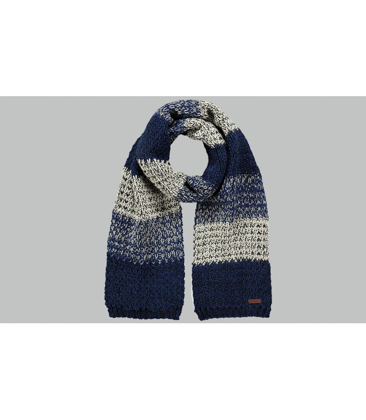 Schal gestreift blau grau
