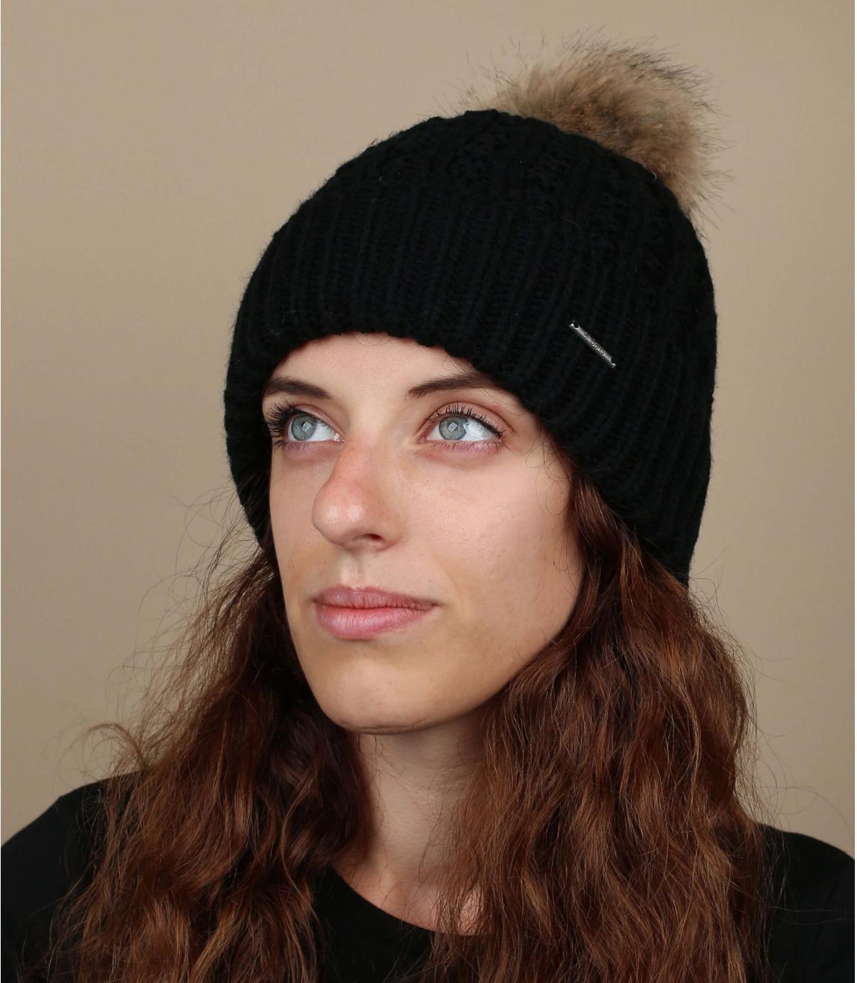 Schwarze Mütze Maxi-Bommel