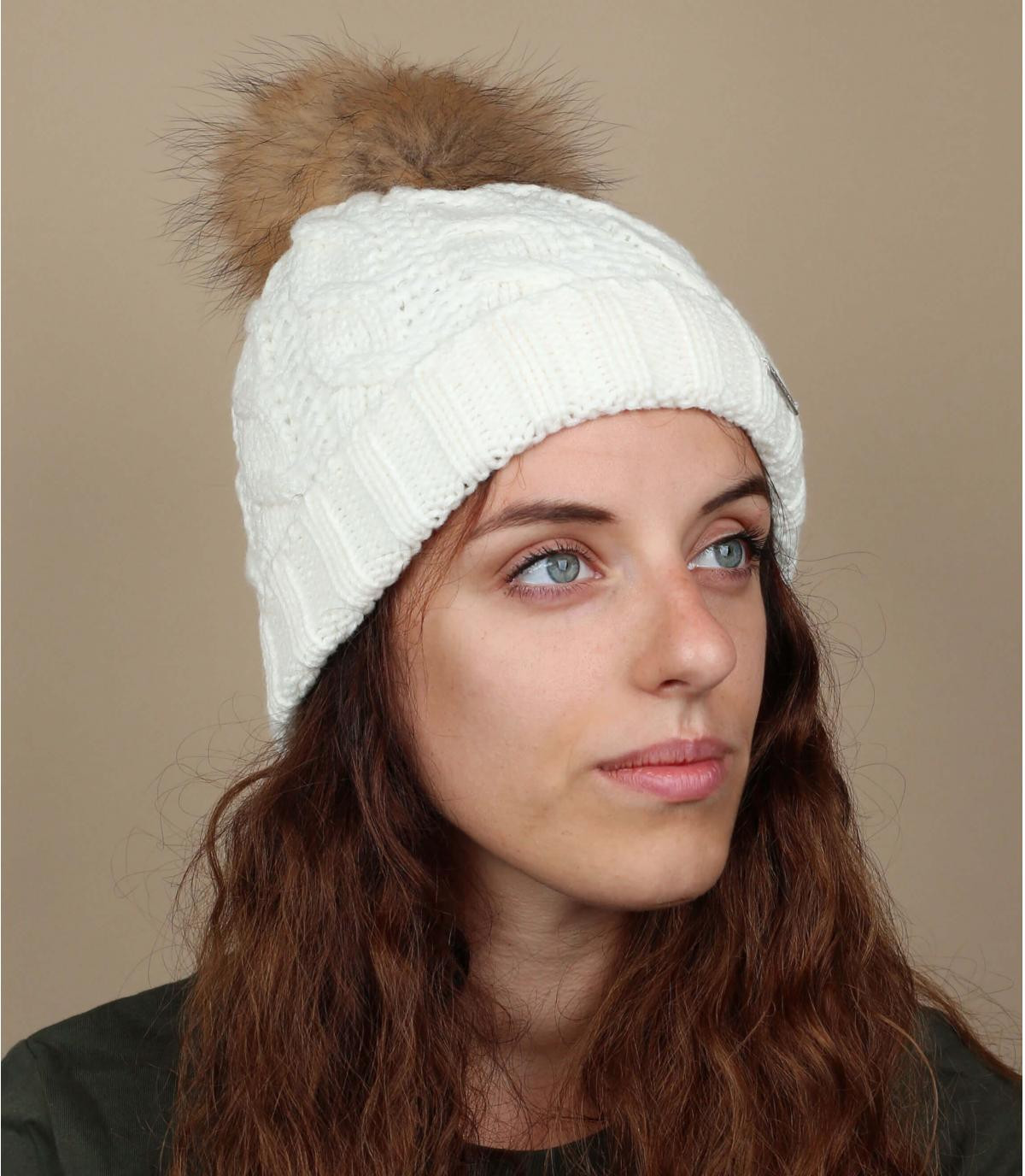 Weiße Mütze Maxi-Bommel