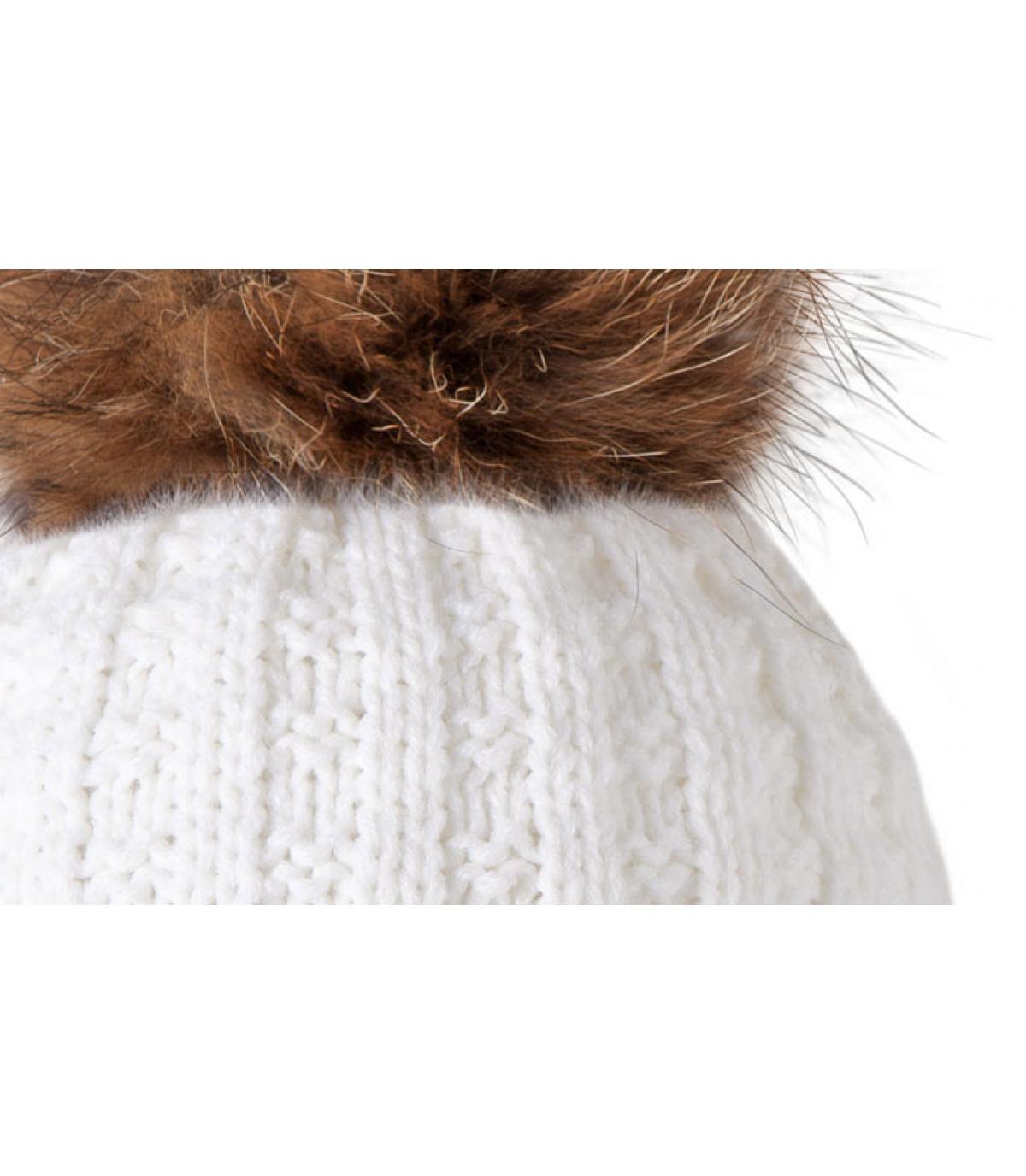 ded25d6c734273 Weiße Mütze Filippa - Weiße Mütze Maxi-Bommel von Barts.