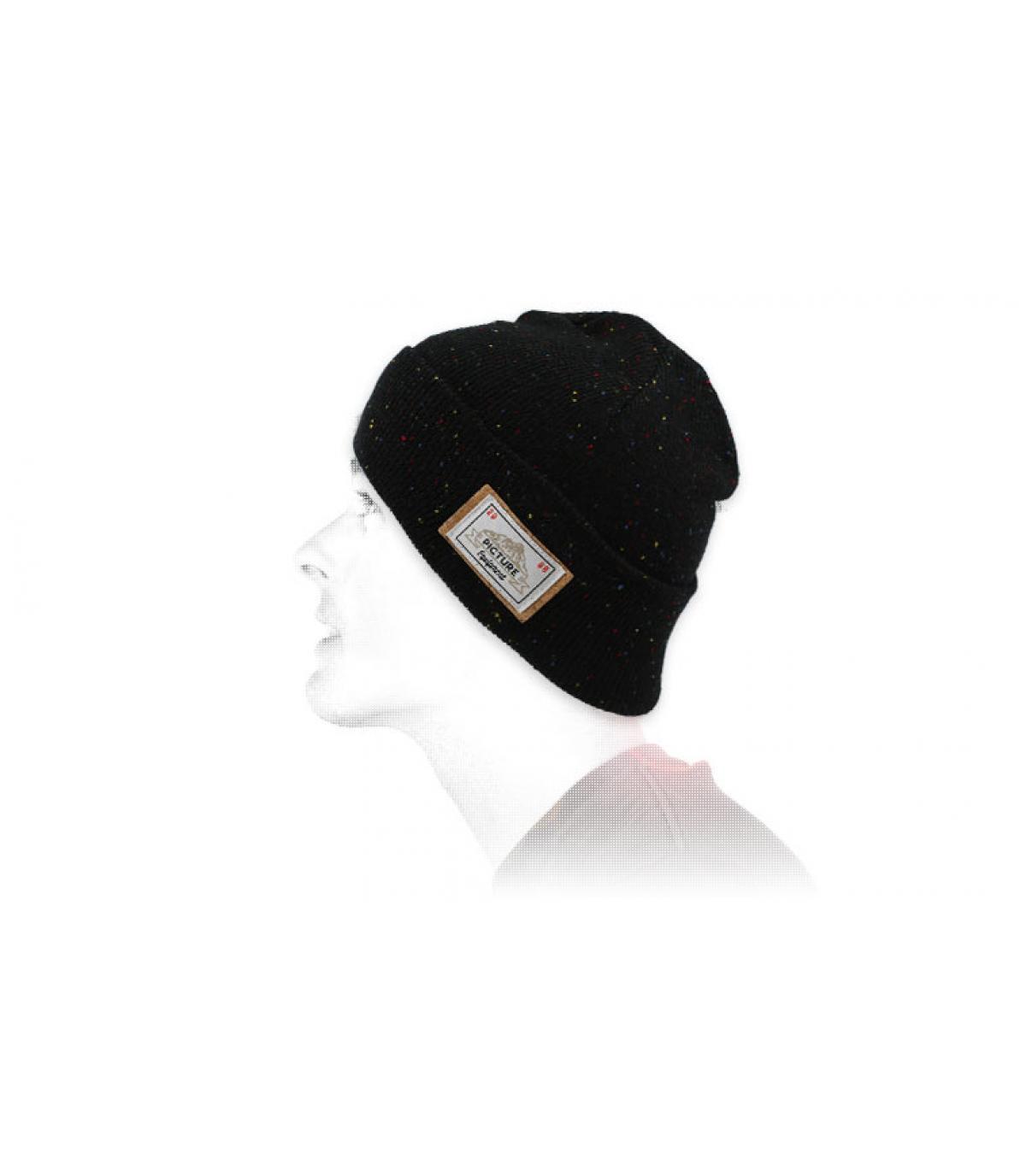 Mütze Revers schwarz Picture
