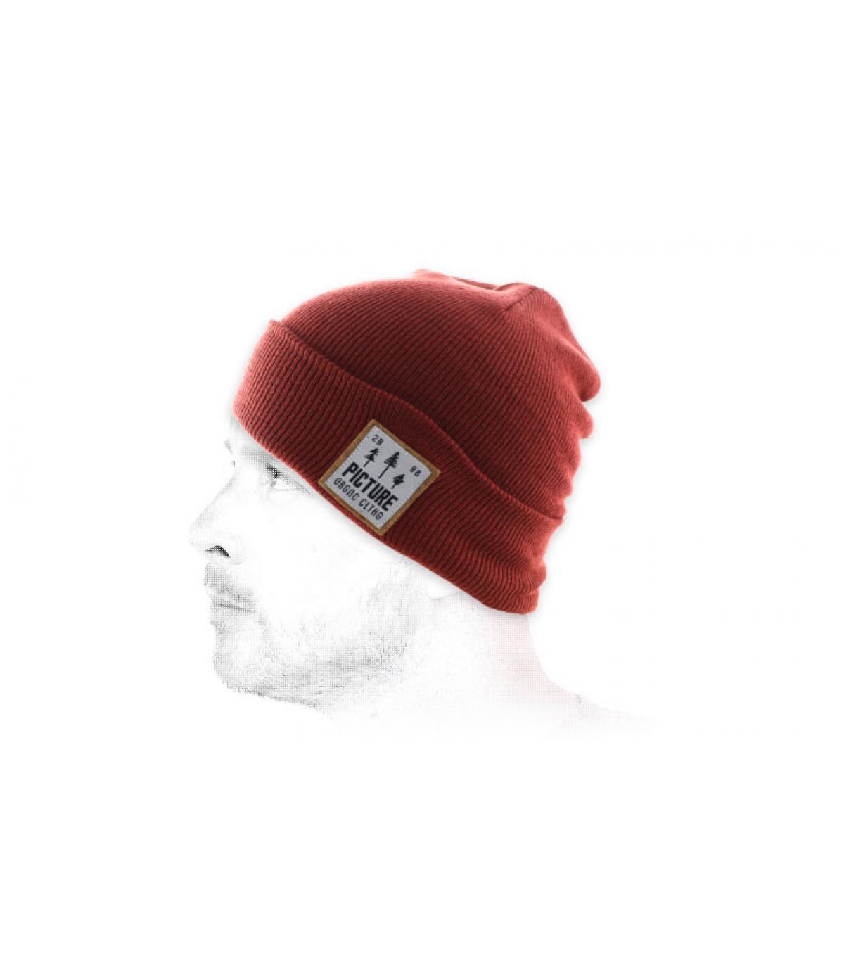 Mütze Revers ziegelrot Picture
