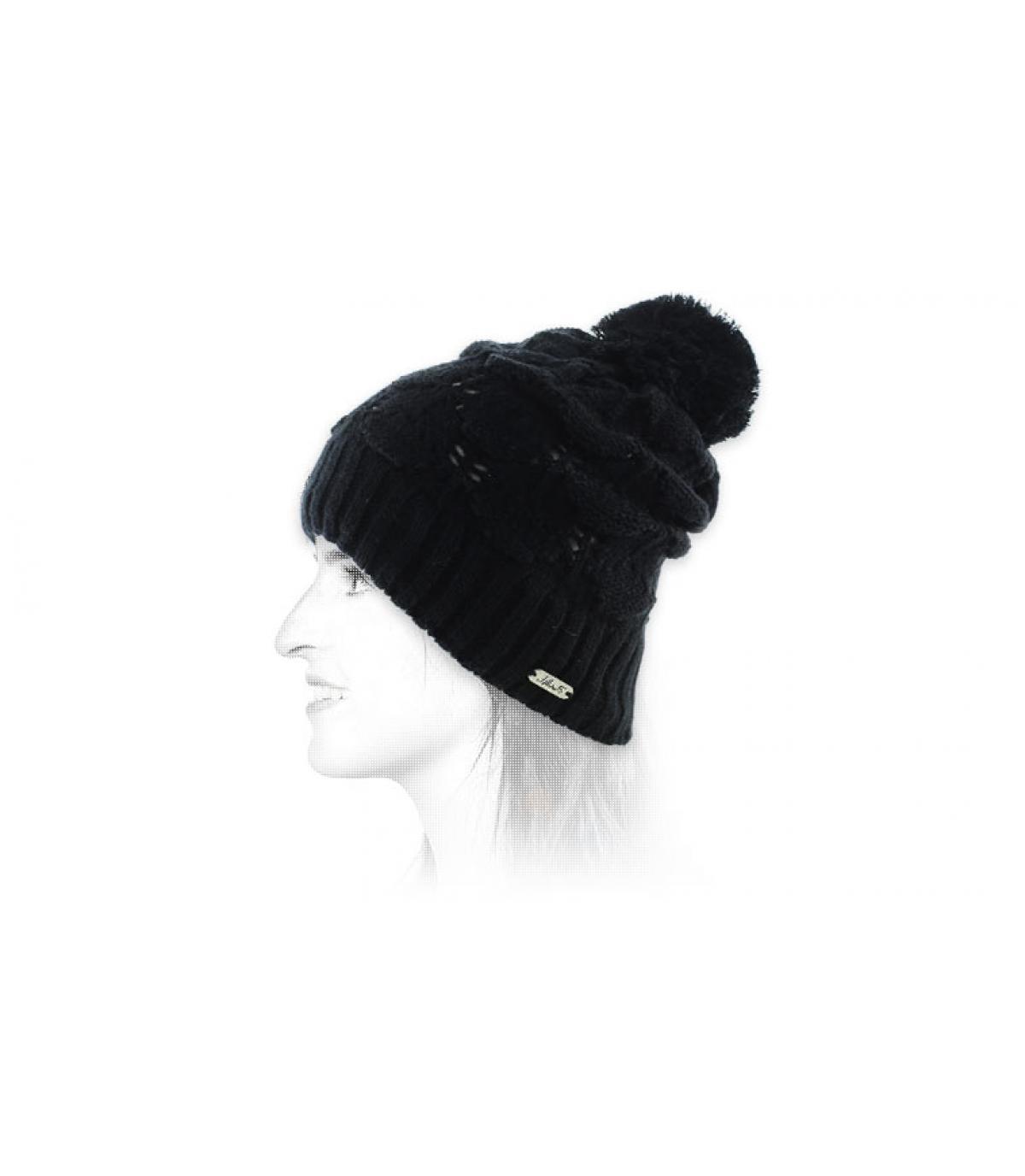 Bommel Mütze schwarz Chillouts