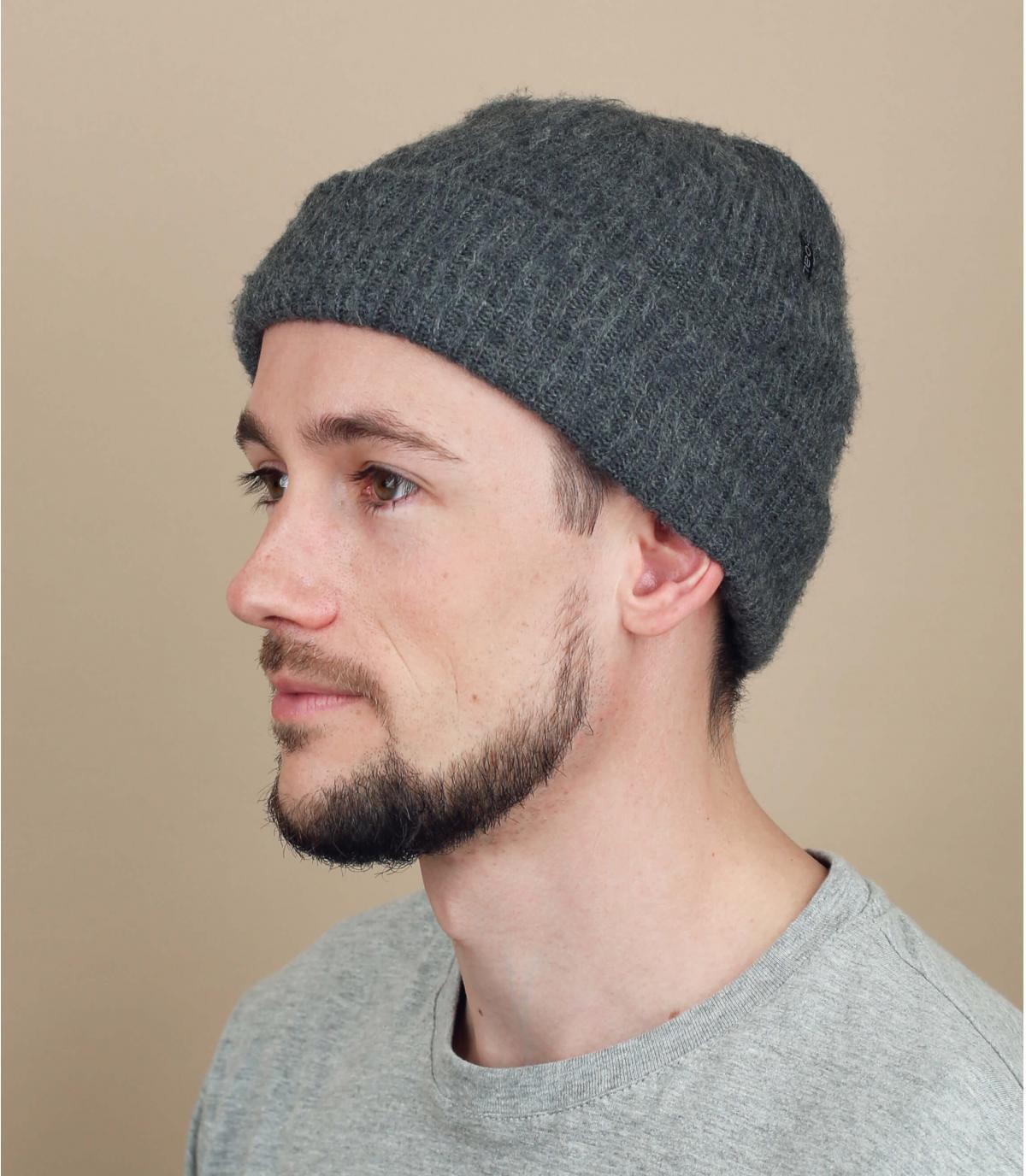 Oversize Mütze grau Coal