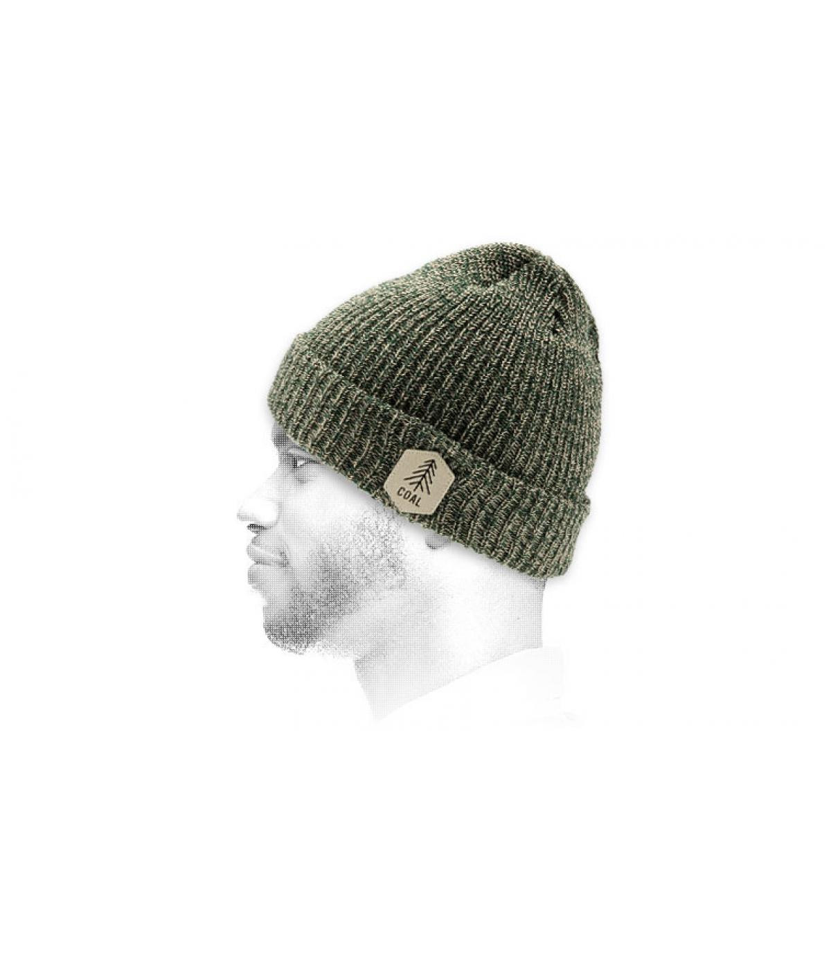 Mütze Revers grün Patch