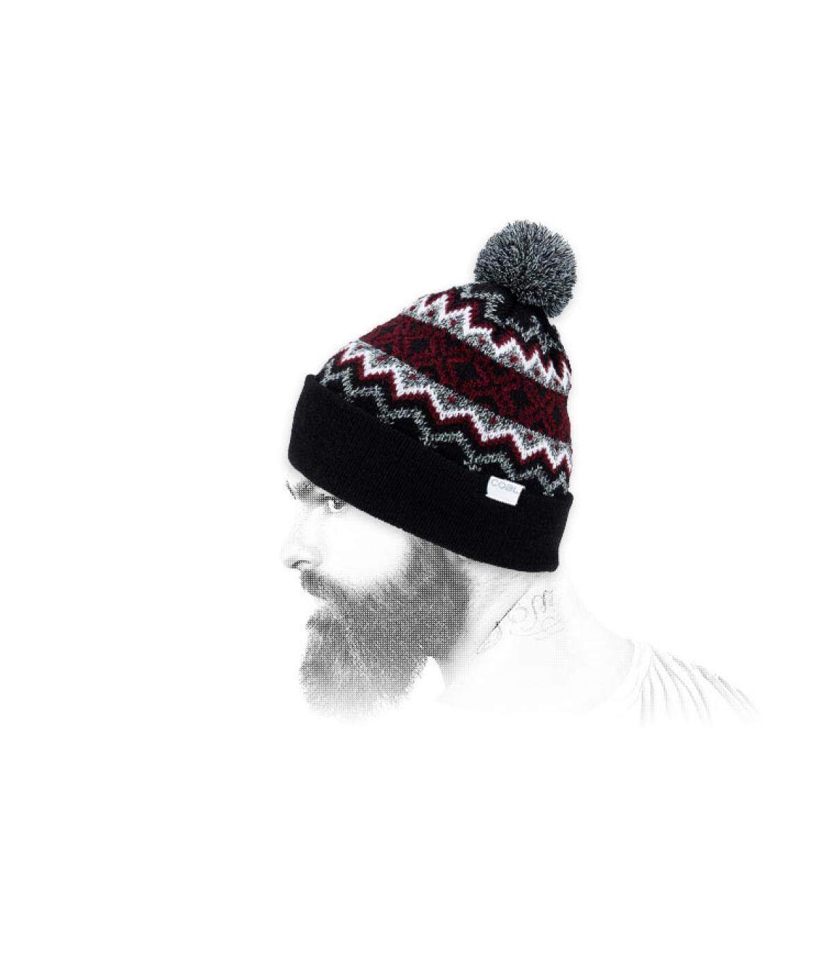 Mütze Motiv schwarz