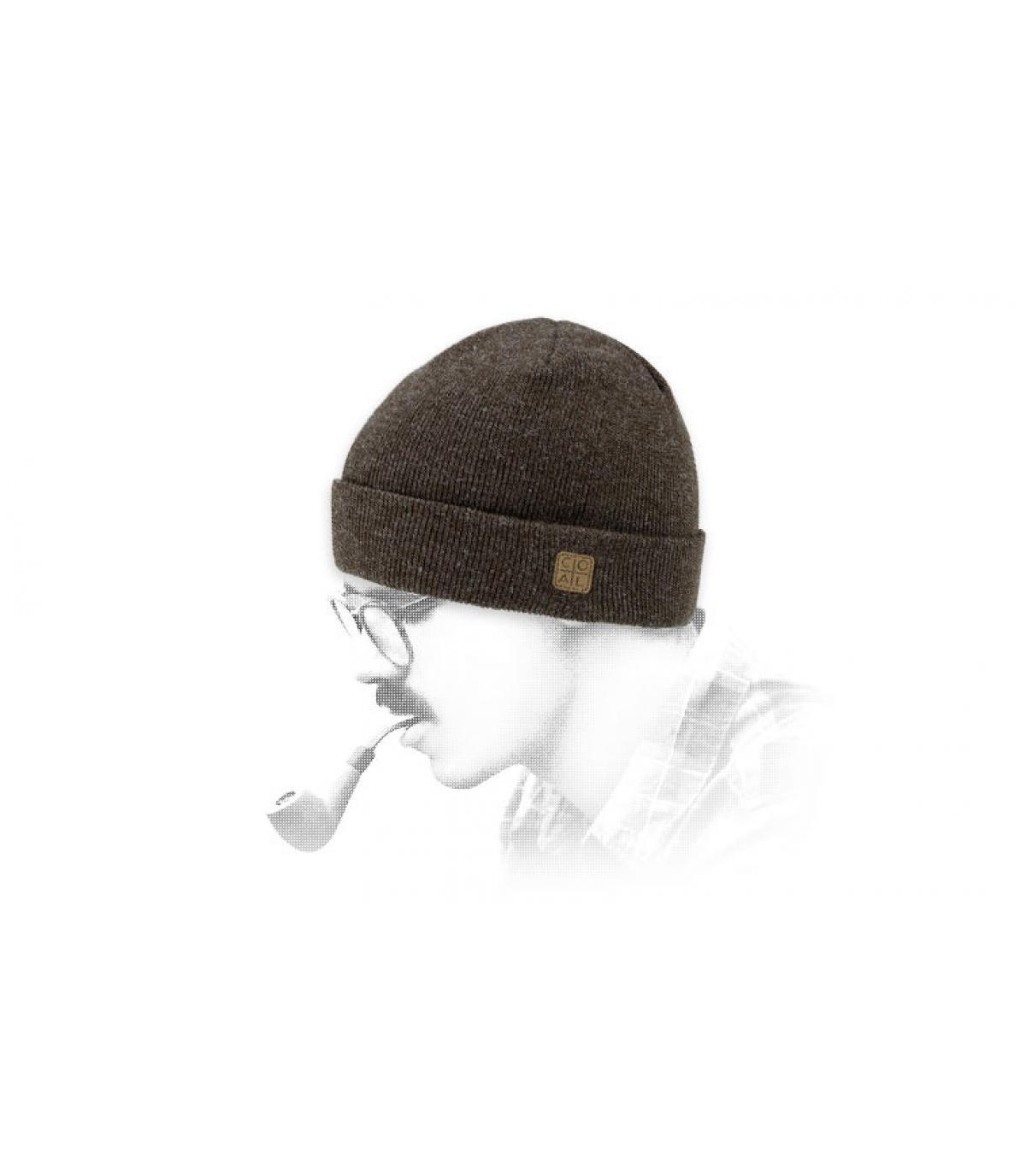 Mütze Revers braun Coal