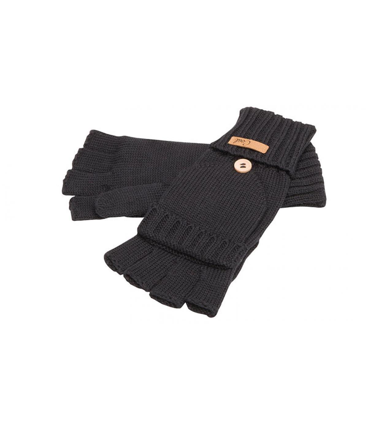 Handschuhe Fäustlinge schwarz