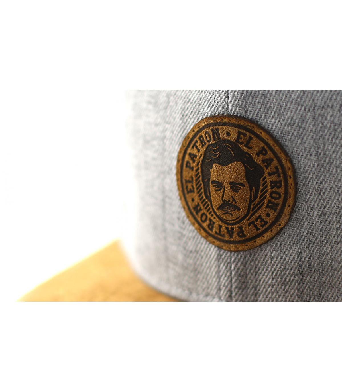 Details Snapback El Patron grey suede - Abbildung 3