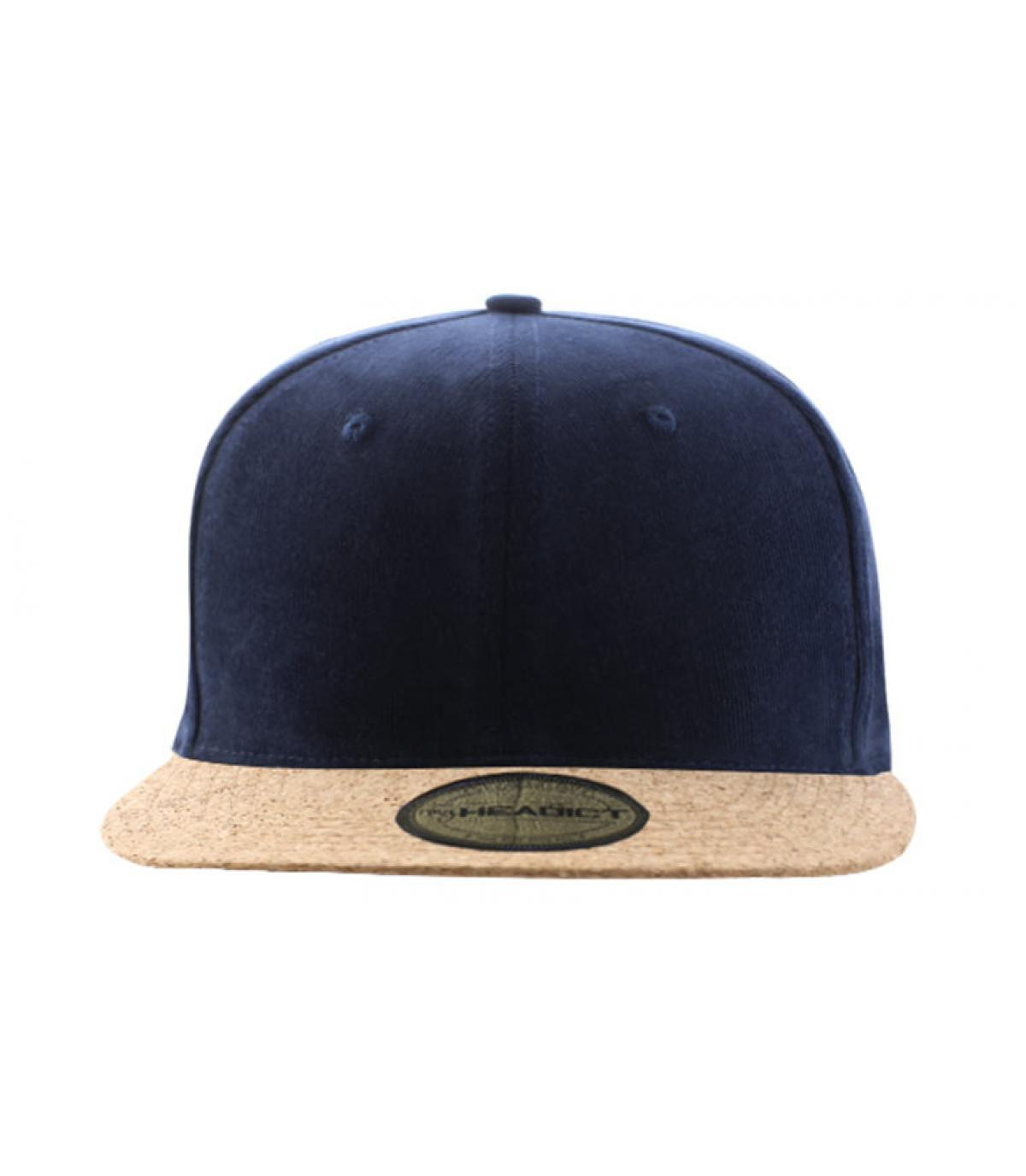 Snapback marineblau Kork