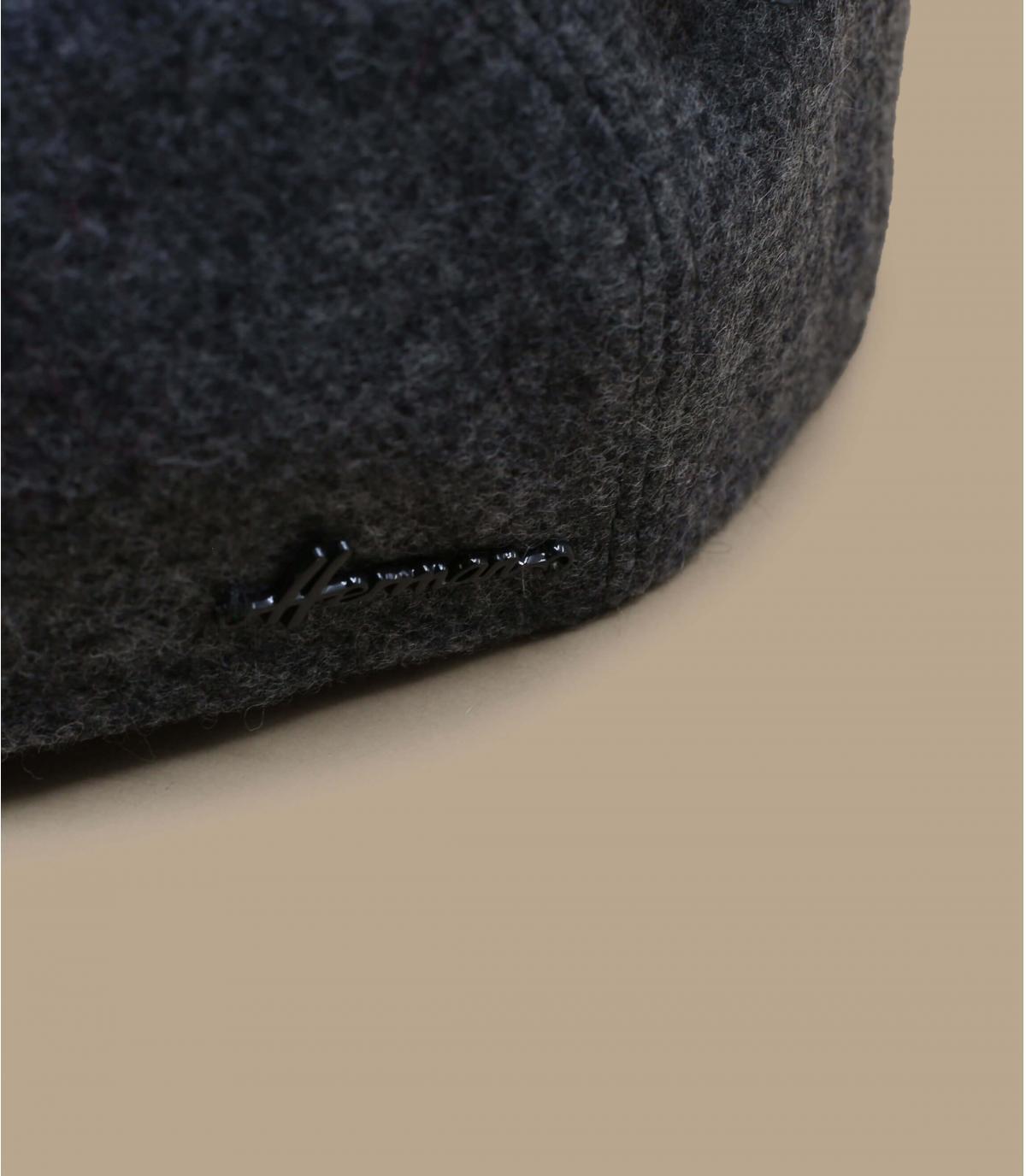 Barett grau Wolle Ohrenschützer