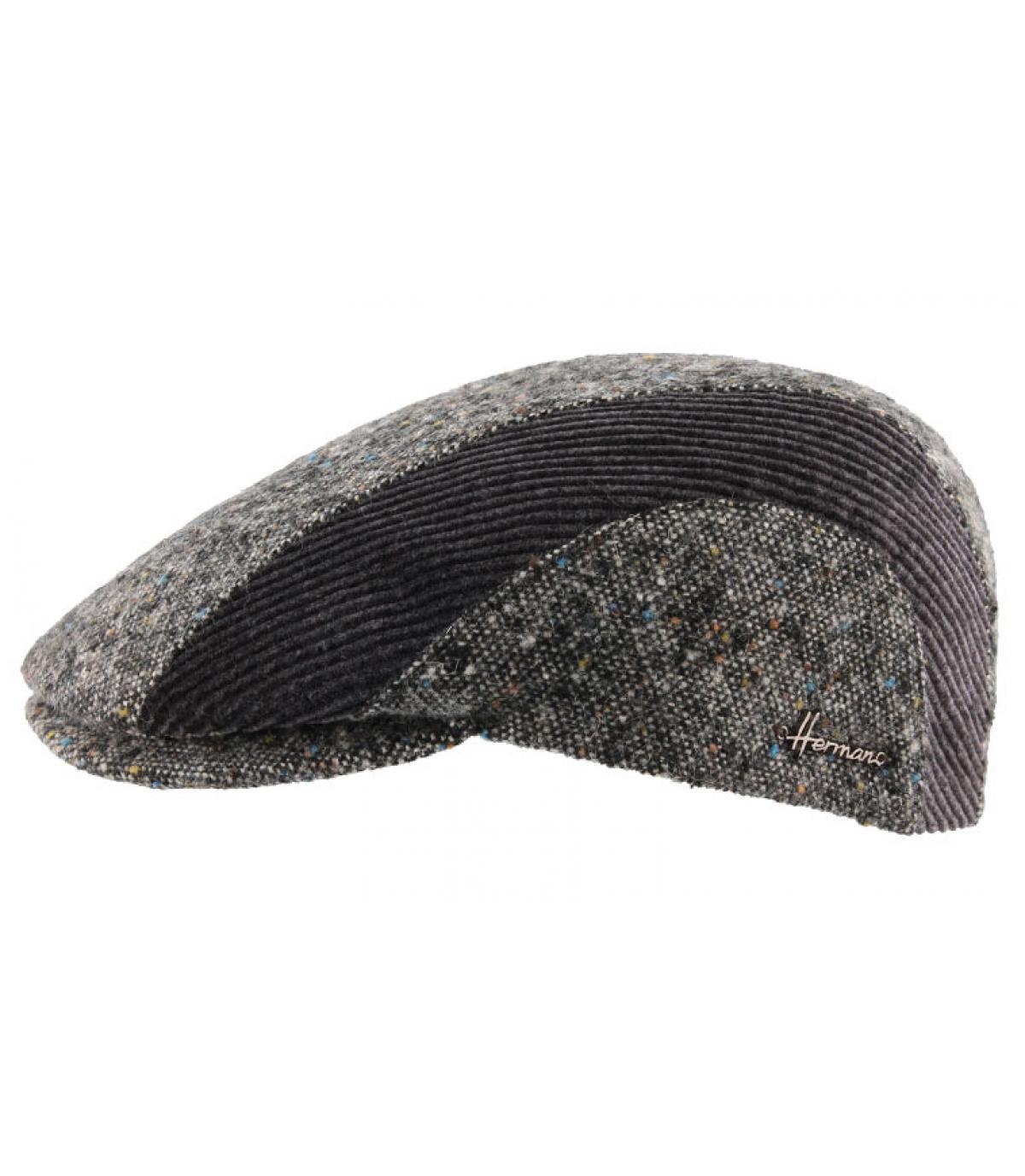 Flatcap grau Streifen