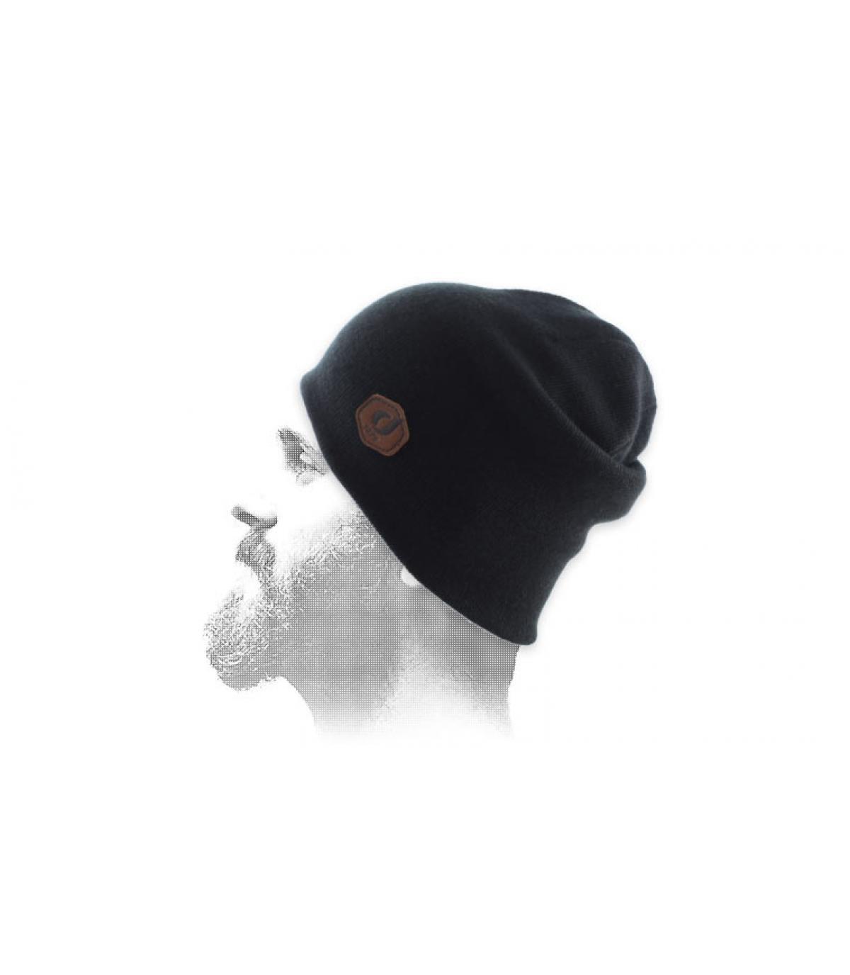 Mütze Rand schwarz Patch