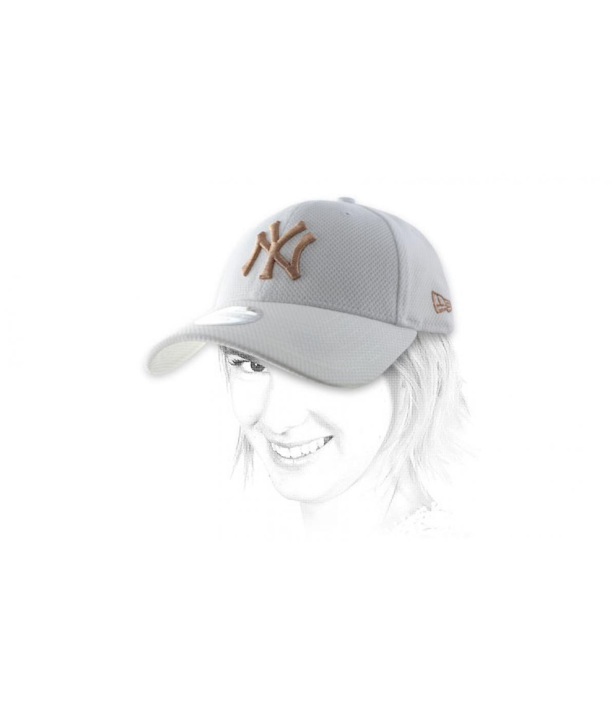 Damen Cap NY weiß
