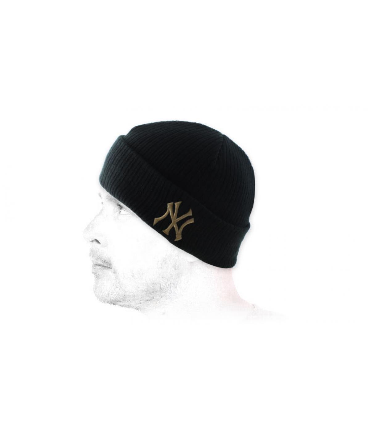 Schwarze Mütze Rand NY