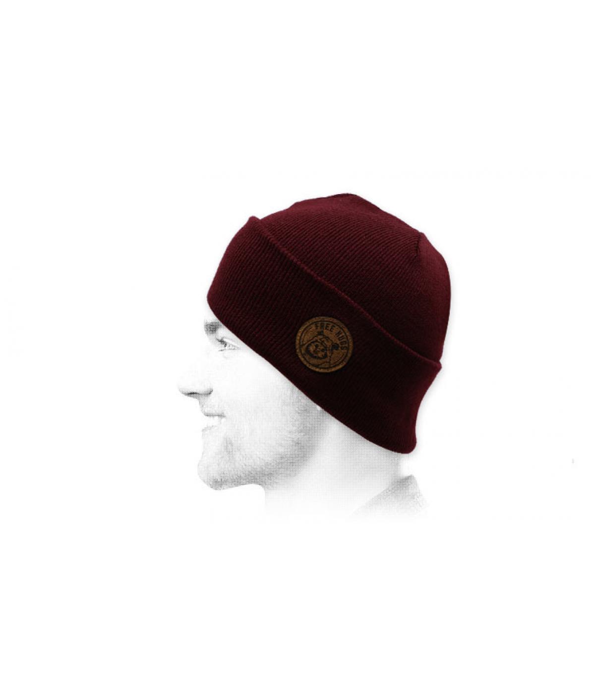 Mütze Ewok bordeaux.