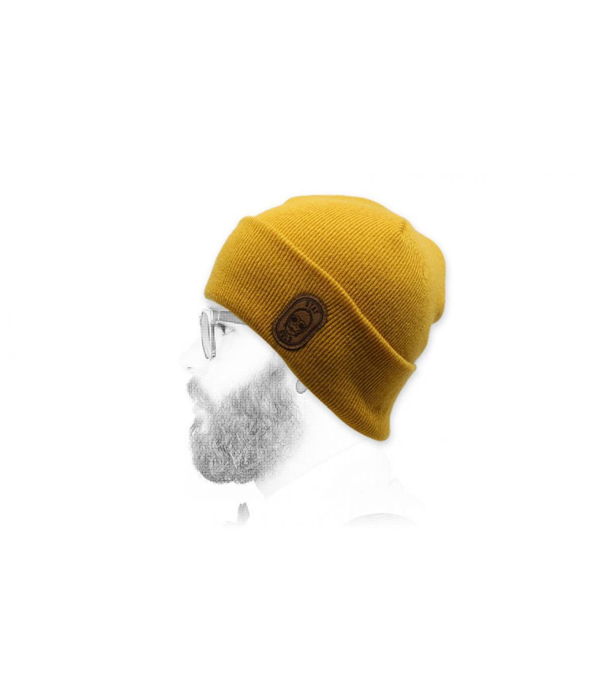 Mütze Roboter gelb