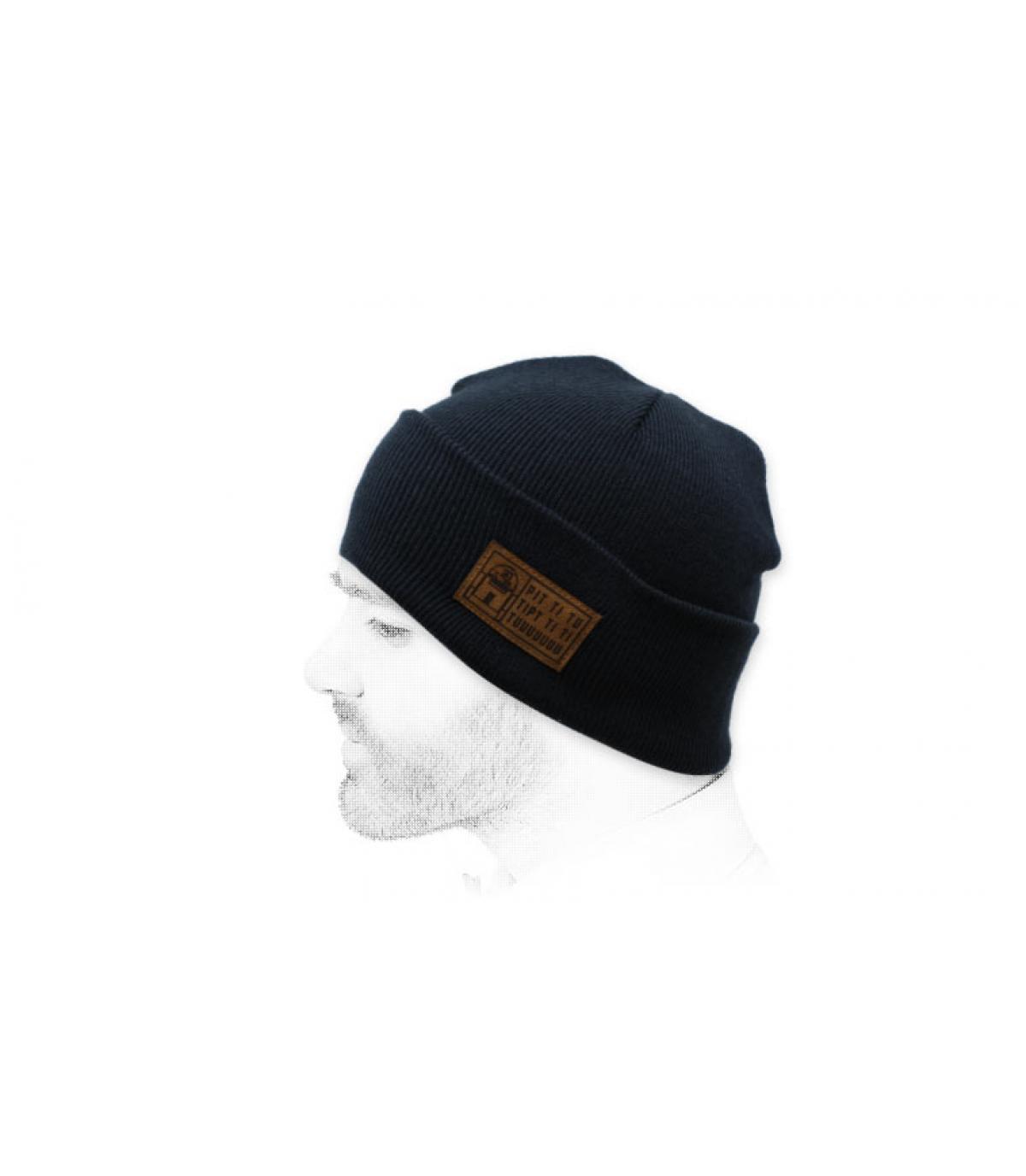 Mütze Roboter blau