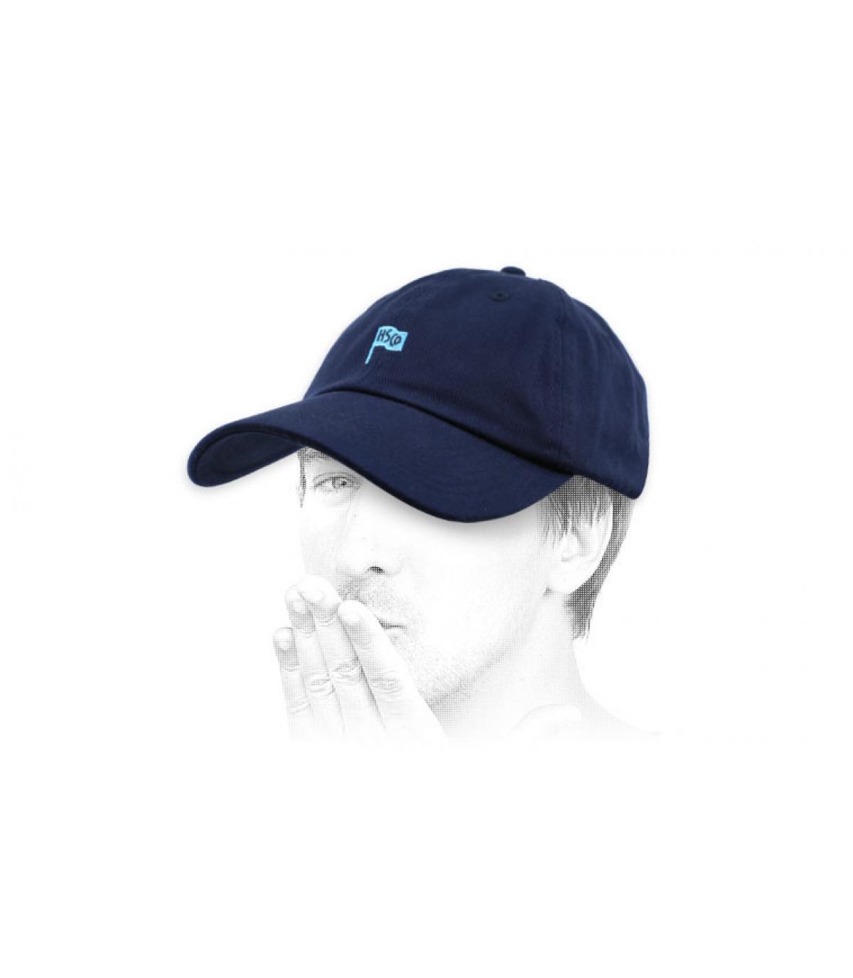 Curved Cap Herschel blau
