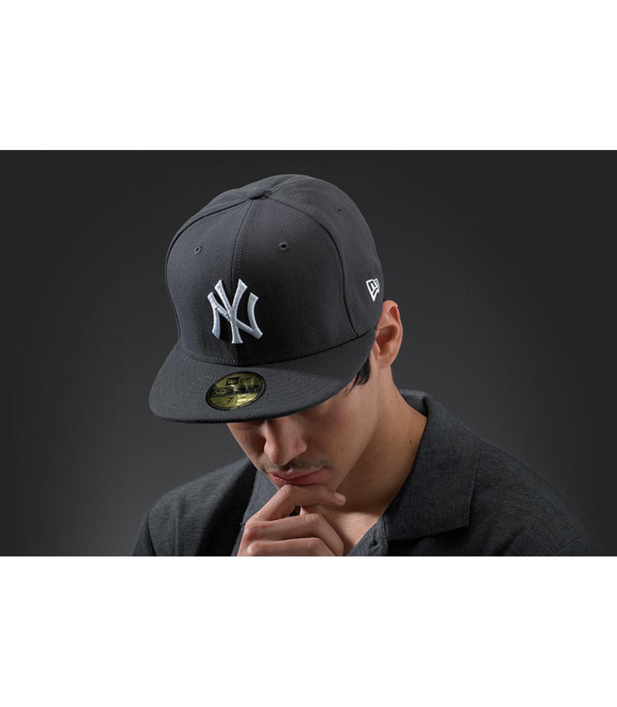 Cap New York grau