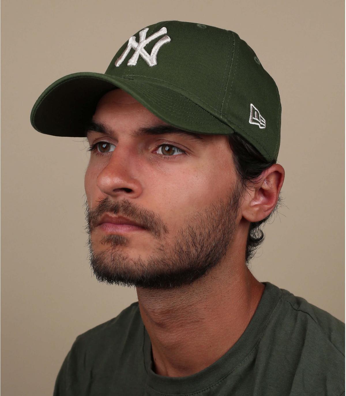 Cap NY grün grau