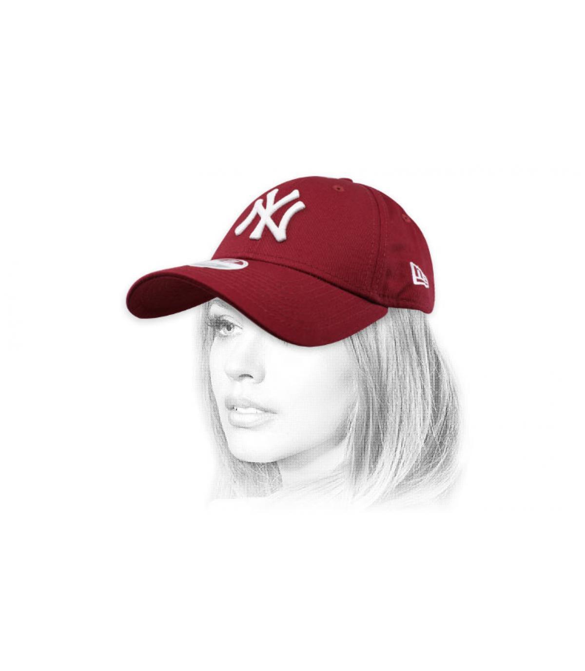 Damen Cap NY bordeaux