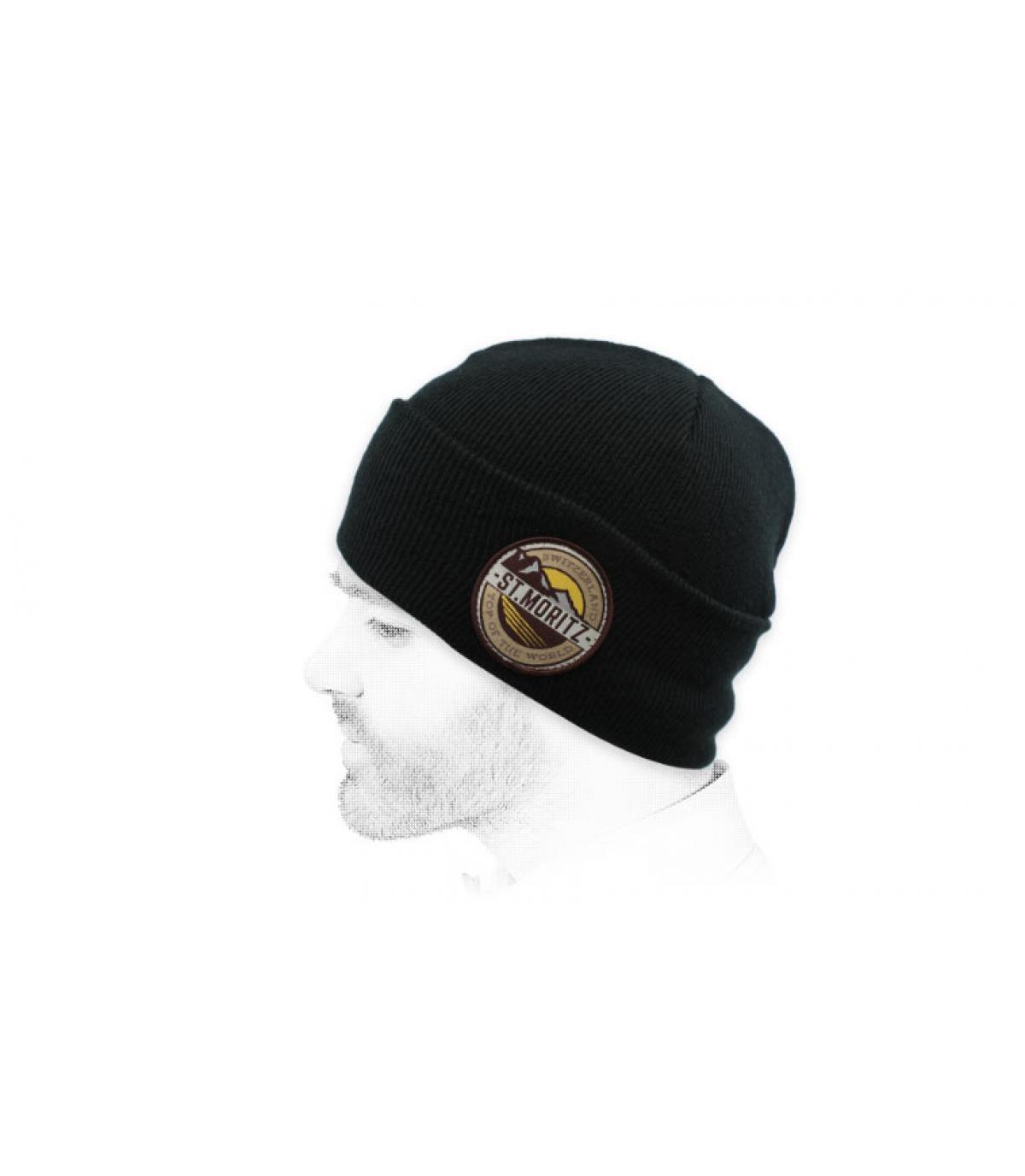 mütze st moritz schwarz
