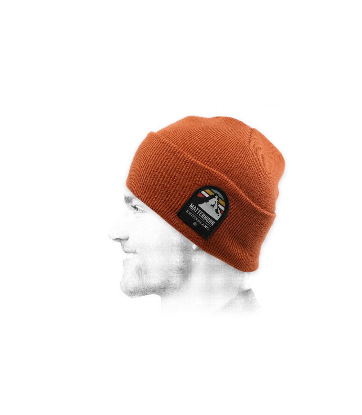 mütze matterhorn rostbraun