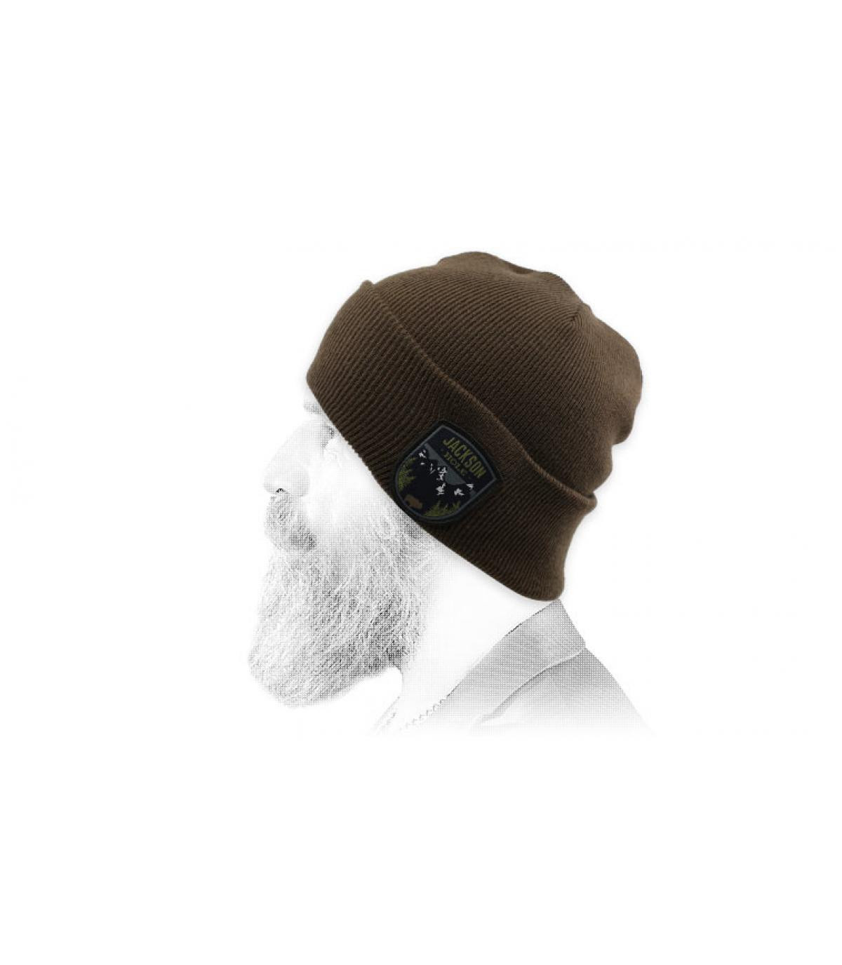 mütze jackson hole braun