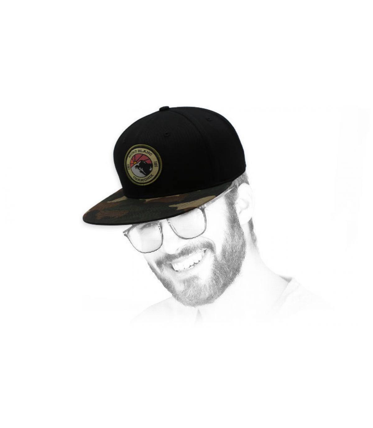 snapback mont weiß schwarz