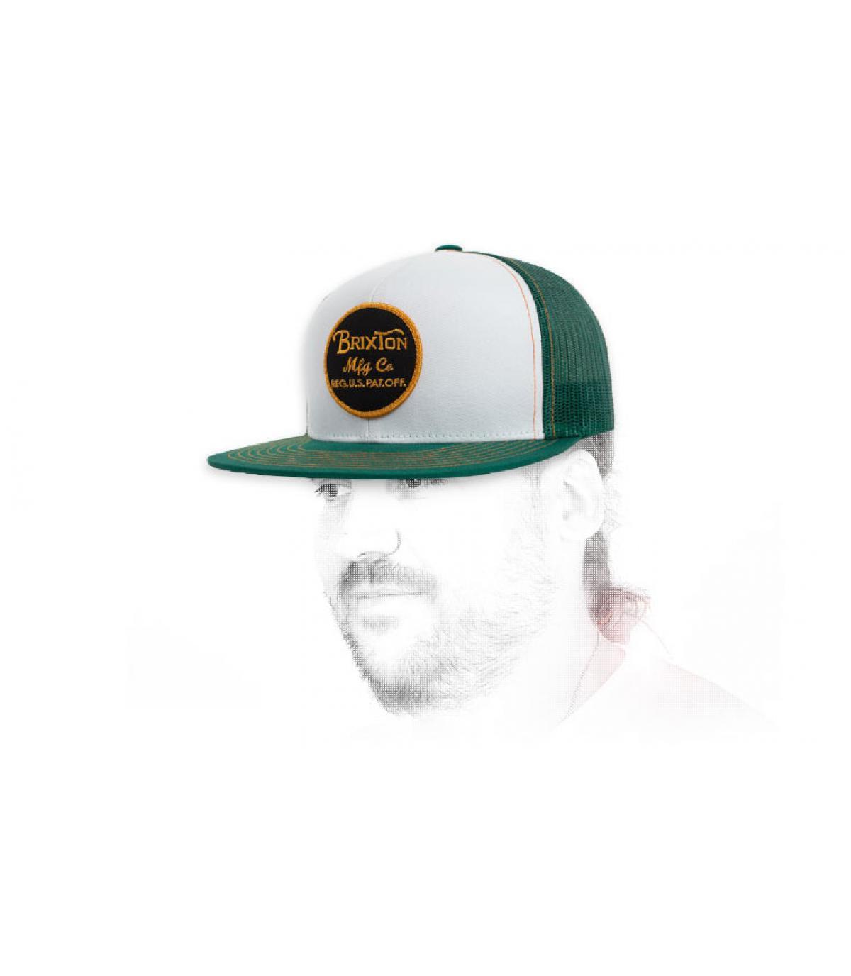 Trucker weiß grün Brixton