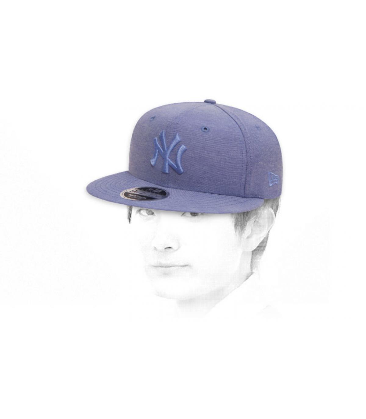 Snapback NY himmelblau