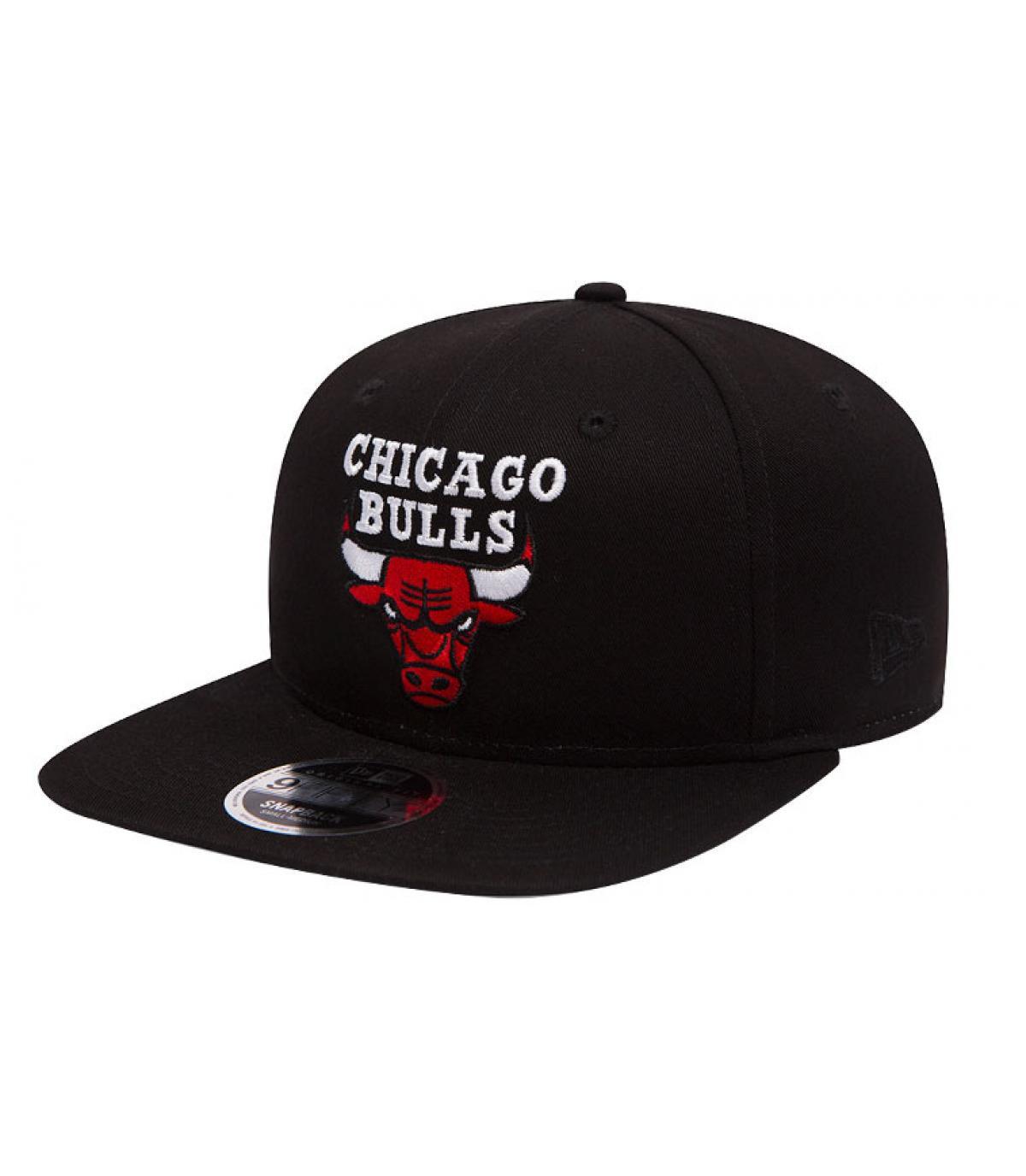 Snapback Bulls schwarz